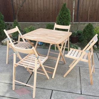 Деревянная складная мебель ( 4 стула + стол №1)