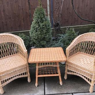"""2 кресла """"Обычных"""" с низкой спинкой №3 + квадратный столик """"Обычный"""""""