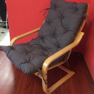 """Кресло """"Амортизатор"""" №2 светлая с серой подушкой"""