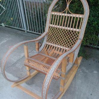 """Кресло-качалка """"Ротанг"""" серая"""