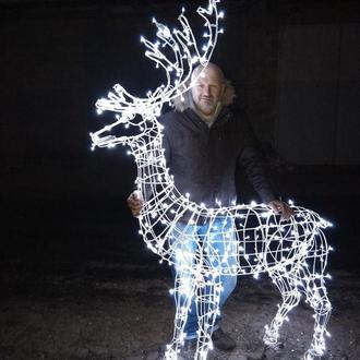 Светодиодные олени от мастера (собственное производство, не Китай), светящиеся 3D фигуры, мотивы.