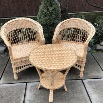 """2 кресла """"Обычных"""" с низкой спинкой №3 + круглый столик """"Краб"""""""