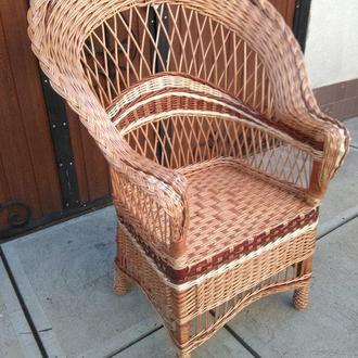 """Кресло """"Капля №2"""" с коричневыми вставками"""