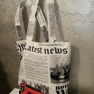 эко сумка, шоппер,пляжная сумка