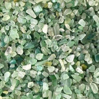 Натуральный камень крошка Жадеид 3-5 мм 10 грамм Камінь крихта зелений Жадеід
