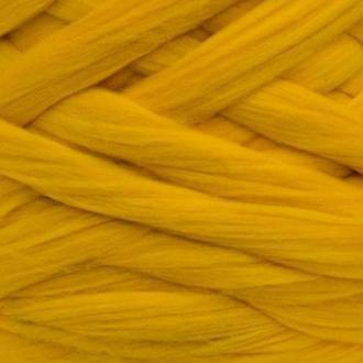 Шерсть для валяния австралийский меринос 23 микрон (10 грамм = 25 см) - Канарейка. Фелтинг Вовна