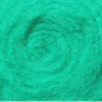 Шерсть для валяния Новозеландская кардочесанная (10 грамм) Зеленая К5005. Фелтинг. Вовна для валяння