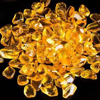 Натуральный камень крошка Цитрин (горный хрусталь крашенный в оранжевый цвет) 7-13 мм (10 гр).