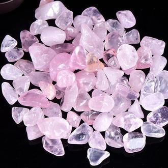 Натуральный камень Розовый кварц 9-15 мм (10 грамм). Камни декор. Натуральний камінь Рожевий кварц скол