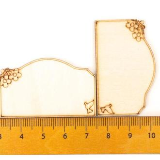 Фигурки табличка фанера 43 мм дерево для скрпбукинга декора творчества гравировки Hand made