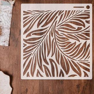 Трафарет многоразовый 10 штамп теснение на стены шаблон УЗОР для альбомов для скрапбукинга 160*150 мм