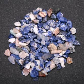 Натуральный камень крошка Содалит скол +-7 мм (10 грамм). Камінь Содаліт крихта натуральний