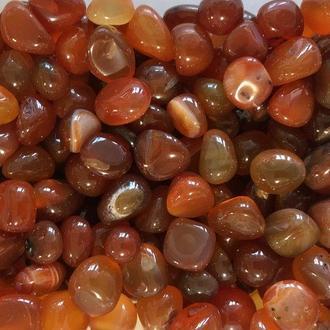 Натуральный камень крошка Сердолик скол округленный +-10 мм (10 грамм). Камінь Сердолік крихта натуральний