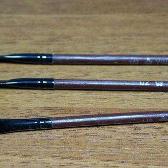 Кисть для рисования №1\2 плоская темная, синтетика (товар при заказе от 200 грн)