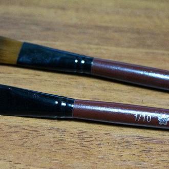 Кисть для рисования №1\10 плоская темная, синтетика(товар при заказе от 500грн)