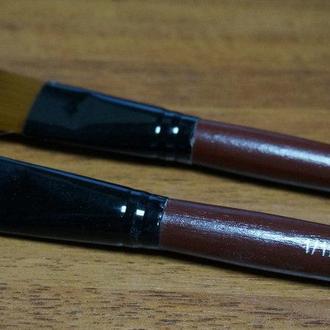 Кисть для рисования №1\12 плоская темная, синтетика(товар при заказе от 500грн)