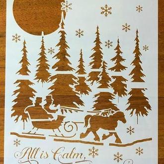 Трафарет многоразовый 29 теснение штамп на стены шаблон Рождество для альбомов для скрапбукинга 290*200 мм