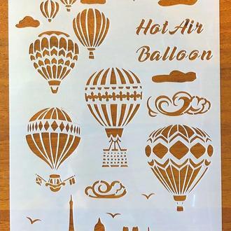 Трафареты многоразовые 38 теснение штамп на стены шаблон Воздушные шары для альбомов для скрапбукинга 29*20 см