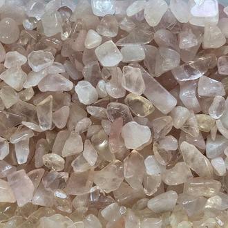 Натуральный камень крошка Кварц розовый скол +-7 мм (10 грамм). Камінь Рожевий кварц крихта натуральний