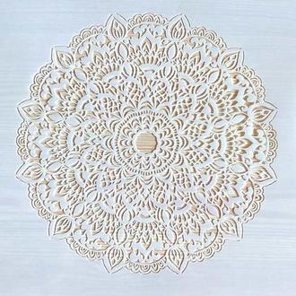 Трафарет многоразовый пластик 49 теснение штамп на стены шаблон Мандала узор для скрапбукинга 290*200 мм