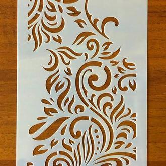 Трафарет многоразовый пластик 102 теснение штамп на стены шаблон Завитки узоры для скрапбукинга 120*240 мм