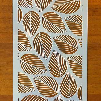 Трафарет многоразовый пластик 109 теснение штамп на стены шаблон Завитки узоры  для скрапбукинга 120*240 мм