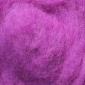 Шерсть для валяния Новозеландская кардочесанная (100 грамм) Ирис К4013. Фелтинг. Вовна для валяння