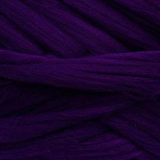 Шерсть для валяния австралийский меринос 23 микрон (100 грамм = 250 см) - Баклажан. Фелтинг. Вовна
