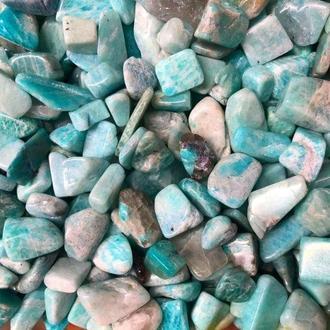 Натуральный камень Амазонит 10-15 мм 10 грамм Камни декор Натуральний камінь Aмазоніт скол