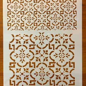 Трафарет многоразовый пластик 67 теснение штамп на стены шаблон Узоры для дома для скрапбукинга 290*200 мм