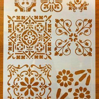 Трафарет многоразовый пластик 71 теснение штамп на стены шаблон Узоры для дома для скрапбукинга 290*200 мм