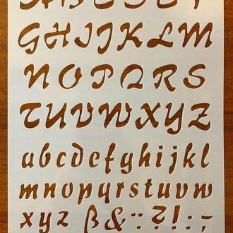 Трафарет многоразовый пластик 200 теснение штамп на стены шаблон Буквы Цифры для дома скрапбукинга 260*180 мм