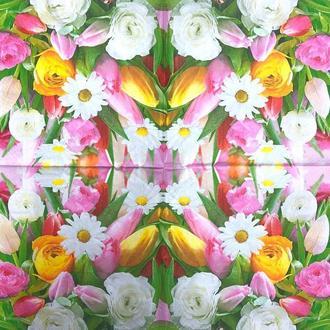 """Салфетки для декупажа 33x33 см 5 """" Разные цветы """" салфетка декупажная. Серветка для декупажу"""