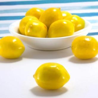 Декоративные фрукты мини лимоны из пенопласта 30*25 мм