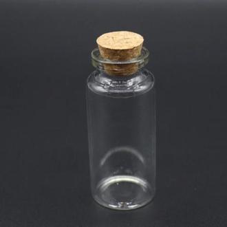 Стеклянная мини бутылочка с пробкой 70 * 30 мм - 30 мл