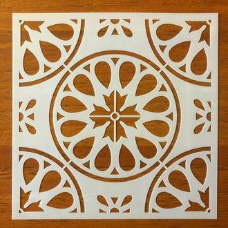 Трафарет многоразовый 304 штамп теснение на стены шаблон УЗОР цветок для альбомов для скрапбукинга 150*150 мм