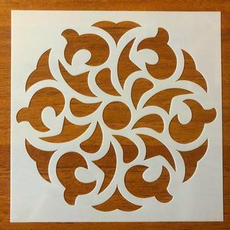 Трафарет многоразовый 311 штамп теснение на стены шаблон УЗОР цветок для альбомов для скрапбукинга 150*150 мм