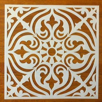 Трафарет многоразовый 314 штамп теснение на стены шаблон УЗОР цветок для альбомов для скрапбукинга 150*150 мм