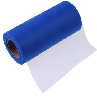 Сетчатая ткань сетка Фатин синий голубой однотонный Вуаль 17 см ширина