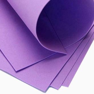 Фиолетовый Фоамиран 20 * 20 см толщина 1 мм для флористики творчества и рукоделия
