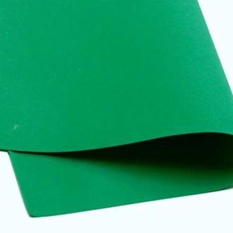 Зеленый Фоамиран 20 * 20 см толщина 1 мм для флористики творчества и рукоделия