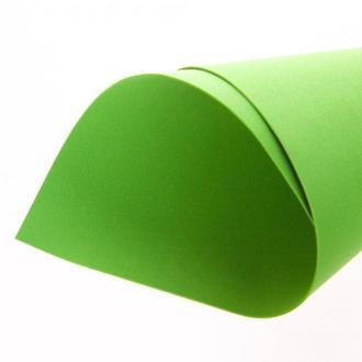 Салатовый Фоамиран 20 * 20 см толщина 1 мм для флористики творчества и рукоделия