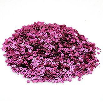 Пайетки розовые 5 грамм 5 мм