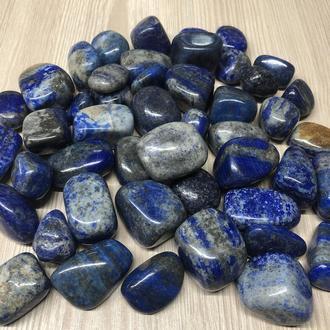 Натуральный камень галтовка крошка Лазурит обработанный скол 15-25 мм (20 грамм, 2 шт)