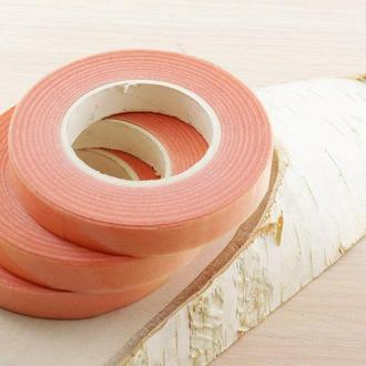 Флористическая лента тейп-лента розовая 30 м розовый