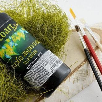 Акриловая художественная краска ЭкоАрт 100 мл Черный