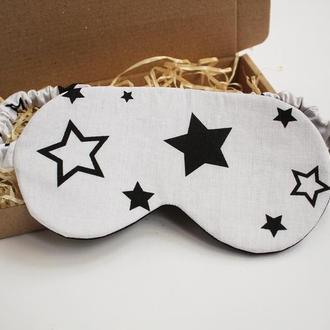 Маска для сна-звезды киев, повязка на глаза, маска для сну-зірки, корпоративные подарки сотрудникам