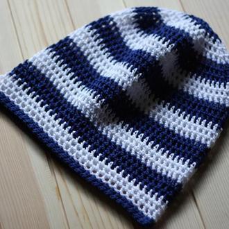 Летняя бини шапка