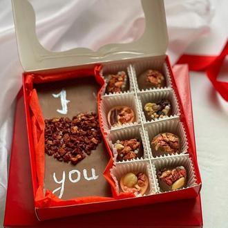 """Шоколадная валентинка """"I love you"""". Подарок на 14 февраля. День влюблённых"""