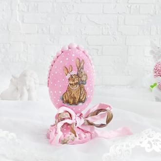 Яйцо пасхальное подарок ′Пасхальные кролики′